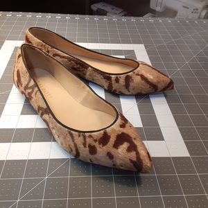 Talbots cow hair slip on shoes